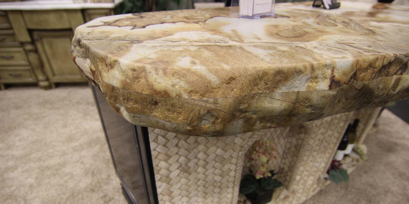 Custom Granite Tile Layered Edge