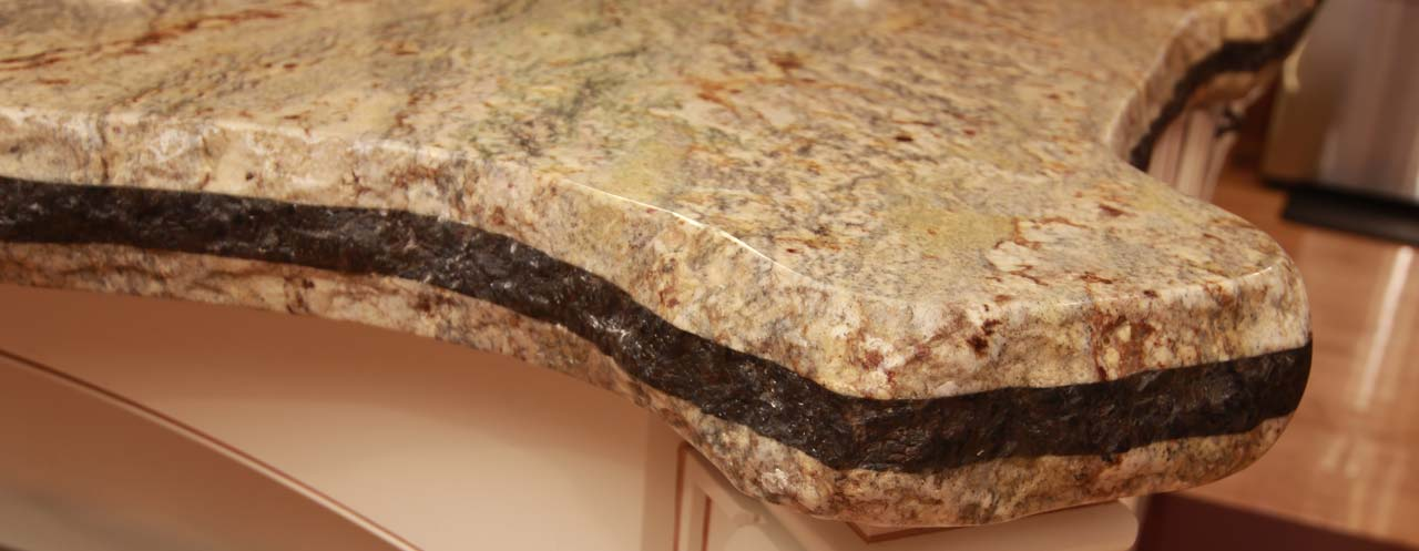 Custom Granite Tile Creates Countertops Using Top Quality Materials While Upcycling Remnants For Other Creations